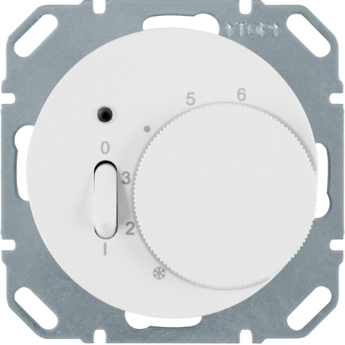 20302089 Thermostat,  contact normalement fermé, a. enjoliveur,  R.1/R.3, blanc pol. bril.