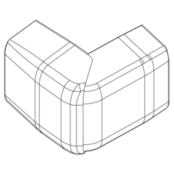 Product Drawing 13 x 32 mm, longueur 2,10 m Angle extérieur ABS