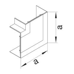 Product Drawing 65 x 100 mm, 1 compartiment Joint de couvercle d'angle plat  PC-ABS