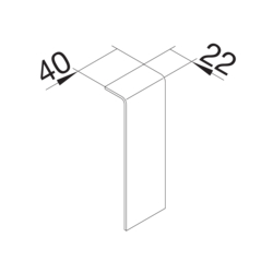 Product Drawing 20 x 115 mm Joint de couvercle  PC-ABS