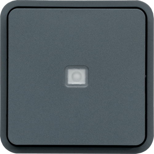 WNA023 cubyko Push-button 1F with control light composable grey IP55