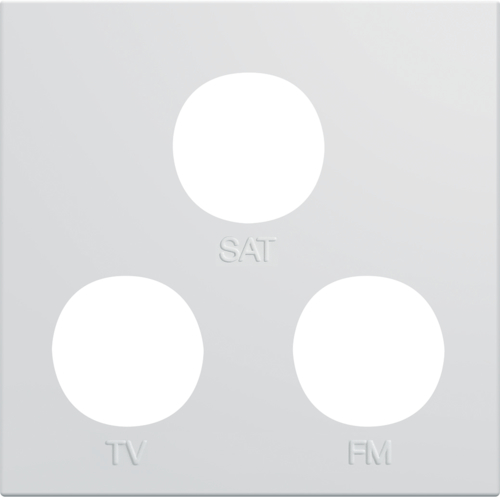 WXD256B Rocker for TV+FM+SAT socket gallery 2 modules pure-white