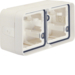 WNA685B cubyko Double horizontal box empty with 4 sliders white IP55